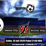 Prediksi Skor Bola Swansea City Vs Bristol City 18 JULI 2020